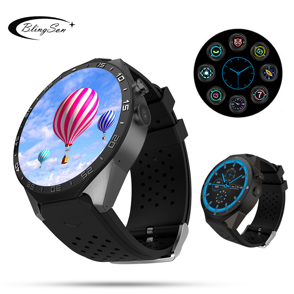 KW88 Pro Android 7.0 Smart Watch Phone 1GB+16GB Bluetooth 4.0 WIFI 3G Smartwatch Wristwatch Support Google store Voice GPS Maps