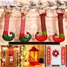 Elf Boots Hanging Pendant Christmas Decoration For Home Ornaments 2019 Tree Decorations New Year 2020 Gifts