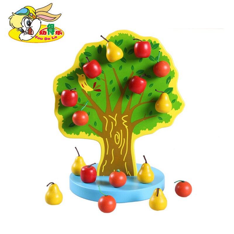 Children'S Educational Early Childhood Kuai Nogo Yuan String Tree Color Magnetic Fruit Beaded Bracelet Wooden Toys