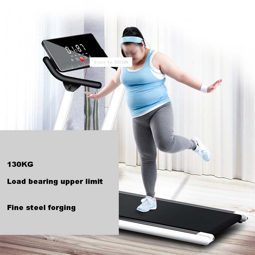 A1 Home Shockproof Running Machine Small Foldable Treadmill Multifunctional Folding Walking Machine Indoor Fitness Equipment
