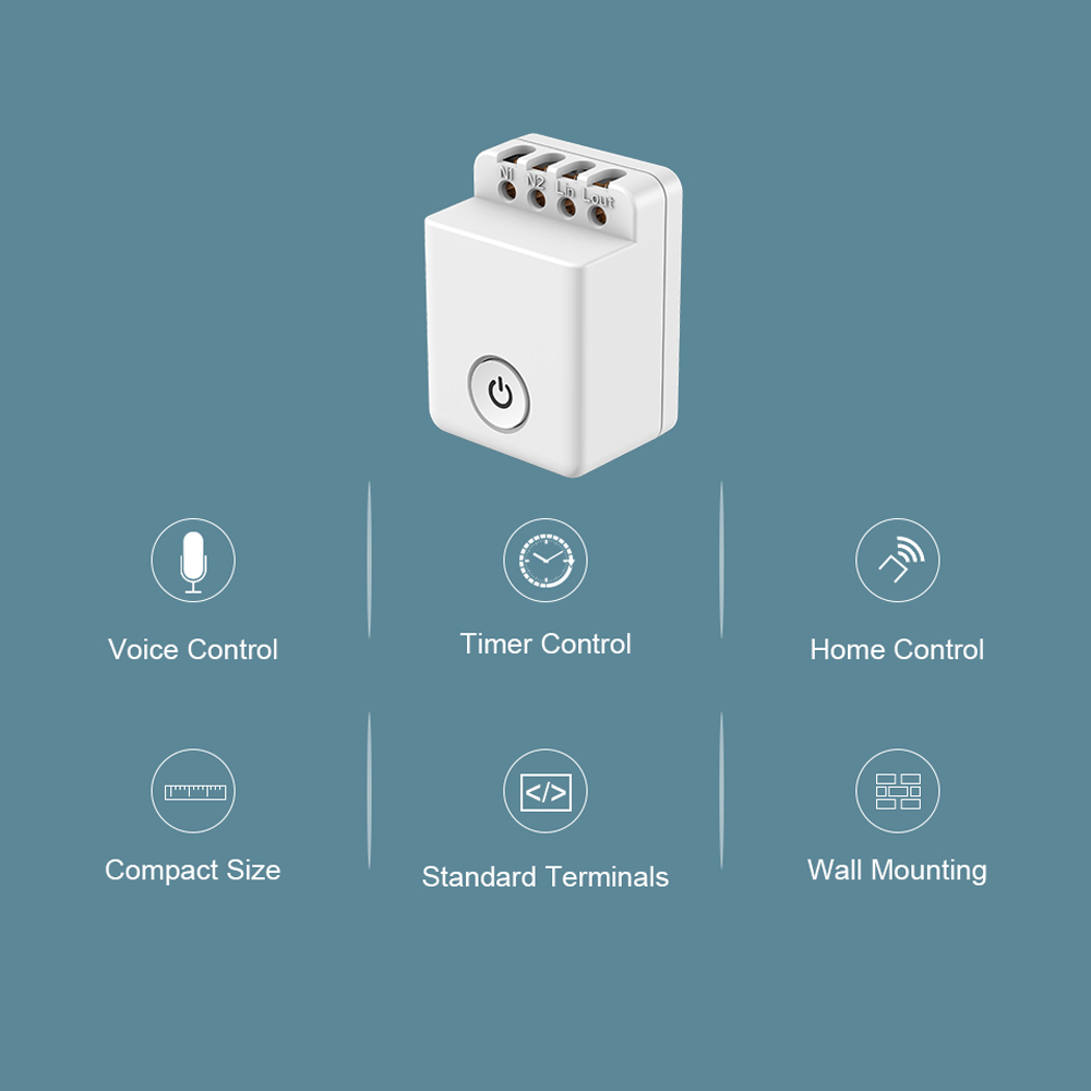 Newnest Broadlink Bestcon MCB1 Home Automation Modules Smart Switch WiFi APP 2.4GHz Control Box Timing Wireless Remote Control
