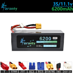 Upgrade 11.1v 6200maH 40C Lipo Batterry For RC Quodcopter Cars Boats Drone Spare Parts 3s 5200mah 11.1v Rechargeable Batteries