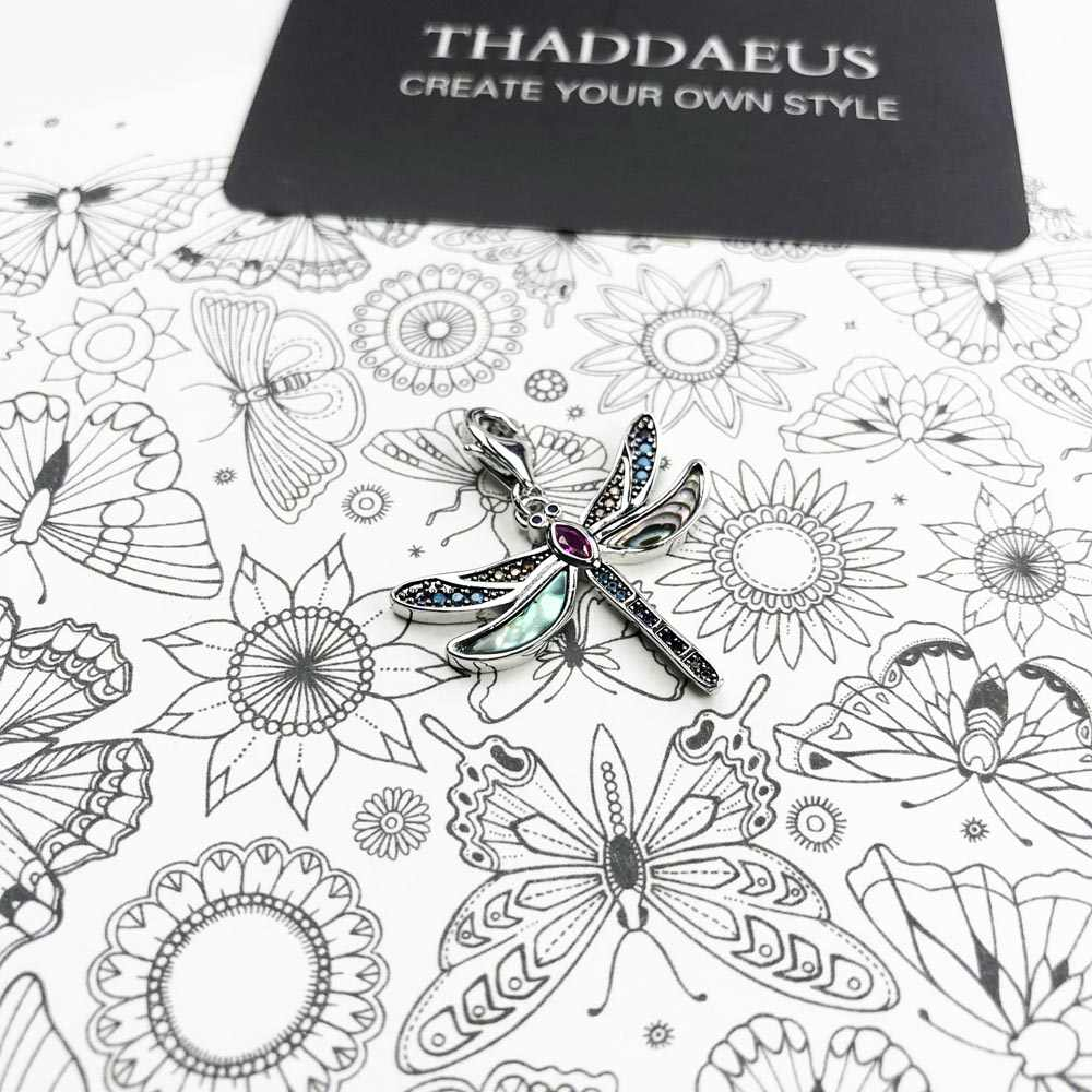 צבעוני שפירית קסם נשים 2019 בוהמיה תכשיטים 925 סטרלינג כסף מסע גן עדן תליון Fit צמיד Collare