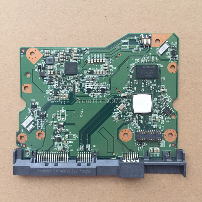 HDD PCB Board Controller 2060-800001-005 For WD 3.5 SATA Hard Drive Repair Data Recovery, 800001-205 WD60EFRX WD60PURX