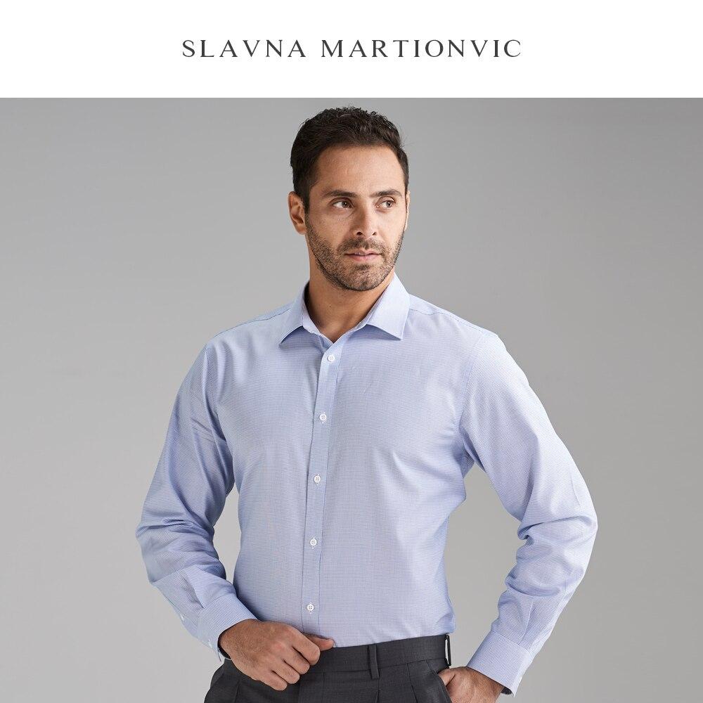 Slavna Martinovic Herfst En Winter Mannen Lange Mouwen Zakelijke Professionele Werk Shirt Flanellen Overhemd Mannen - 3