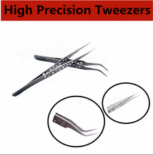 High Quality Anti-static Electronics Industrial Tweezers Curved Straight Tip Precision Stainless Forceps Phone Repair Hand Tools