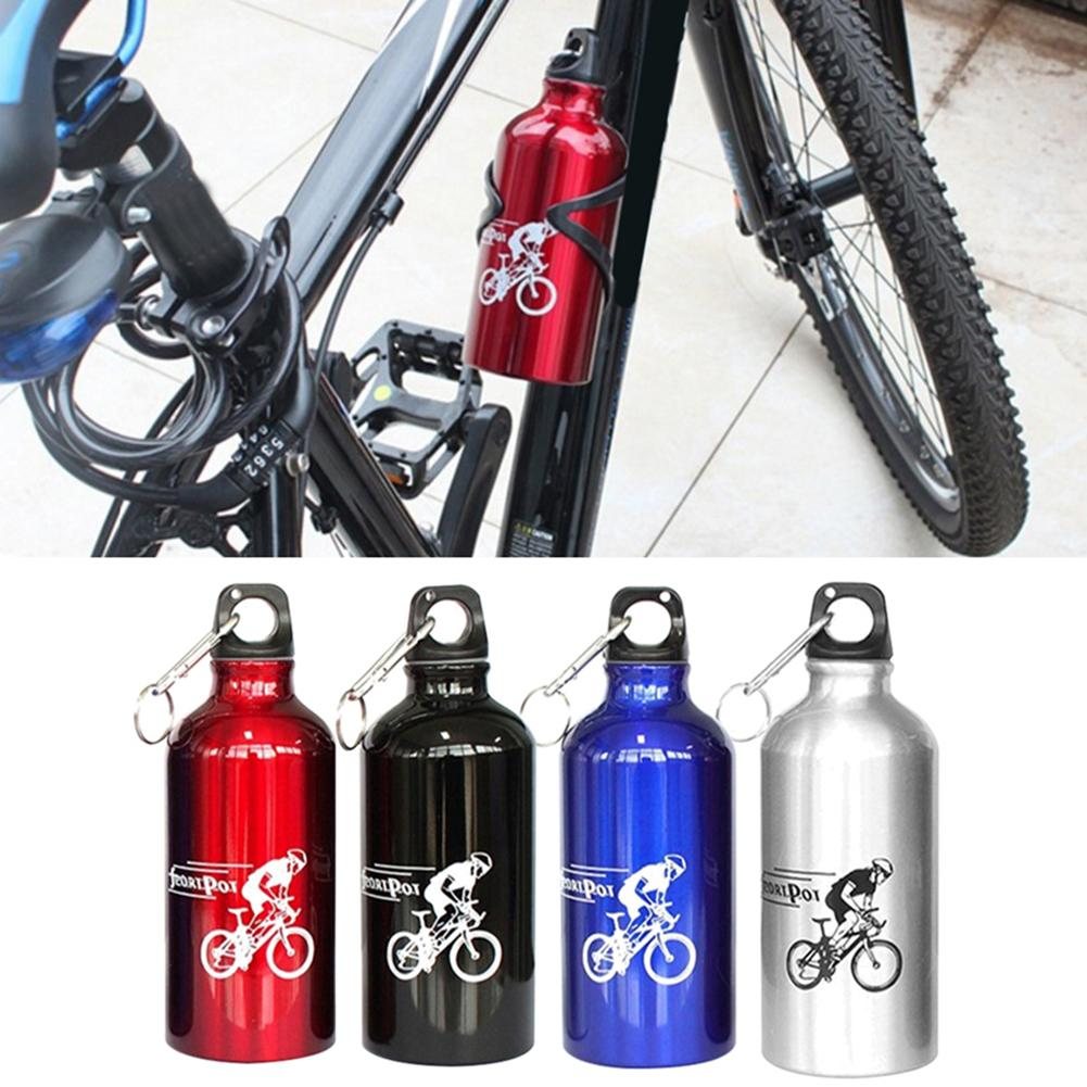 500ml Portable Stainless Steel Sports Bottle Straight Drink Bicycle Travel Cold Kettle Outdoor Thermos Cup Drinking Tool