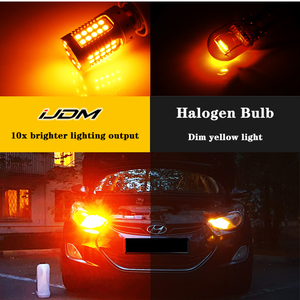 Image 5 - JDM Car 7440 7443 LED No Hyper Flash 12V T20 W21/5W 1157 3157 3156 1156 BAU15S LED Bulbs For Turn Signal Lights Red Yellow White