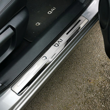 Stainless Steel For Nissan Qashqai J11 2015-2020 Accessories Door Sill Scuff Plate Door Sills Pedal Stickers Car Styling 4pcs new stainless steel door stickers car body trim for nissan qashqai j11 car styling accessories 2018