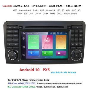 Image 1 - DSP PX5 z systemem Android 10 4G 64G nawigacja samochodowa GPS dla Mercedes Benz ML GL W164 ML350 ML500 GL320 X164 ML280 GL350 GL450 radio stereo nawigacji