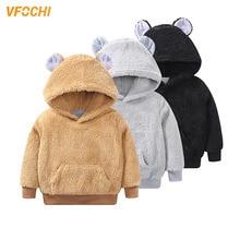 VFOCHI 2019 New Girls Hoodie Winter Autumn Children Long Sleeves Sweater Kids Clothes Sweatshirts Unisex Boy Velvet