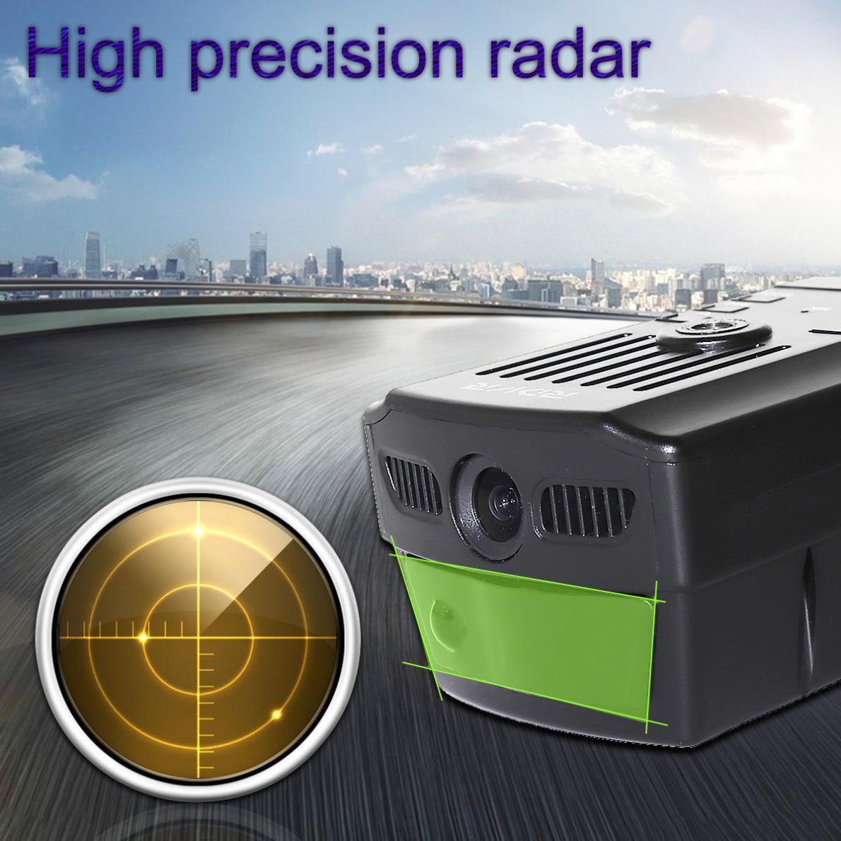2,7 дюймов английский/русский голосовой Автомобильный видеорегистратор радар-детектор 720P HD видео камера Speedcam детектор скорости потока
