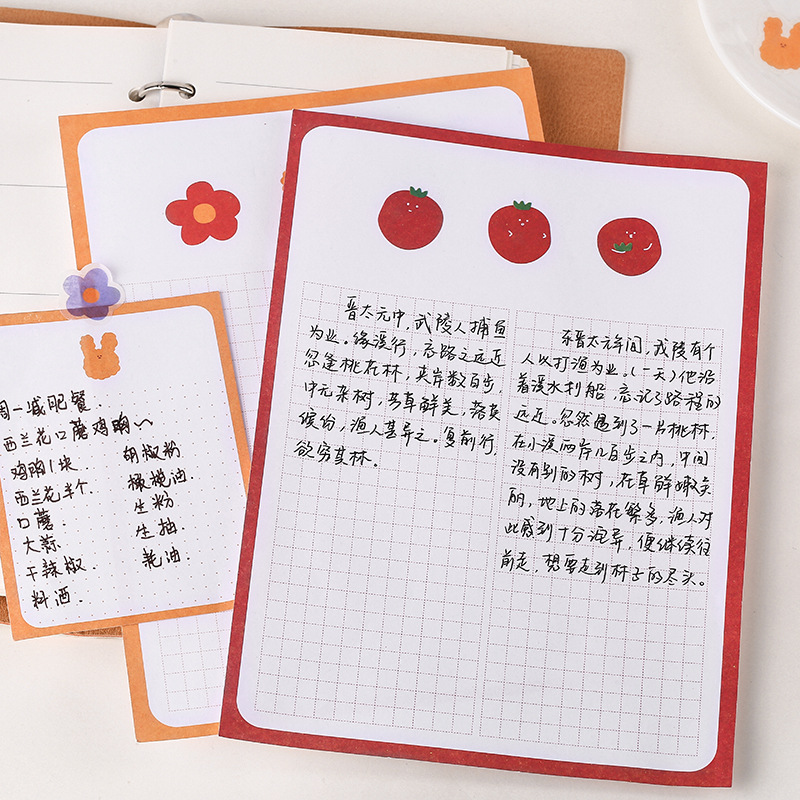 Mohamm Memo Pad And Sticker Set Cute Creative Cute Message Notepad Note Memo Sheets Stationery Office Supplies