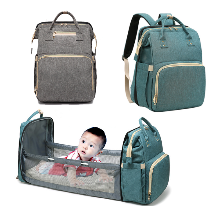 Diaper Bag Moms And Dads Backpack Multifunctional Baby Bed Bags Maternity Nursing Handbag Stroller Bag Drop Shipping