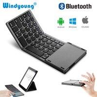 터치 패드와 접이식 블루투스 무선 키보드 태블릿 PC 노트북 ipad에 대 한 터치 패드와 범용 휴대용 무선 키보드