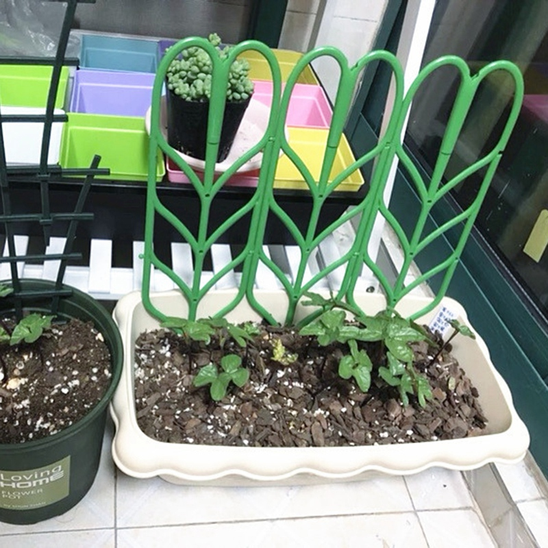 12 Garden Trellis Climbing Plant Support Stake For Mini Indoor Plants Pots .Flower Pot Gardening Plastic Insert