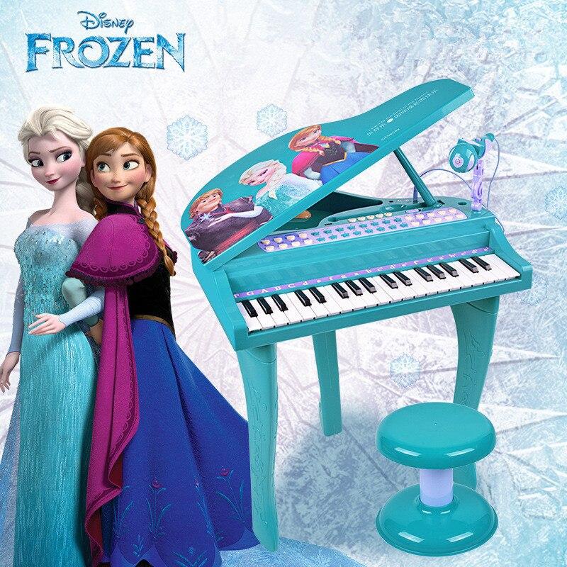 Disney Frozen 2 Piano Princess Electronic Keyboard Children Educational Toys Action Figure Model Toy Girls Boys Gifts M5503