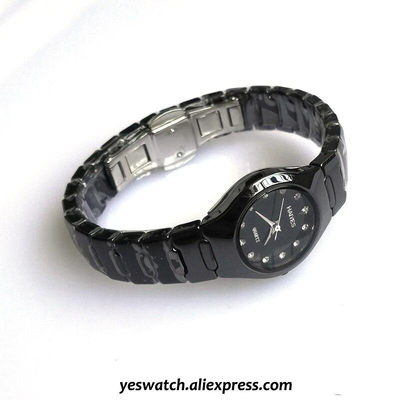 Jewelry Gifts For Women's Luxury White Ceramic Quartz Watch HAIYES Brand Women Watches Fashion Ladies Clock Relogio Feminino