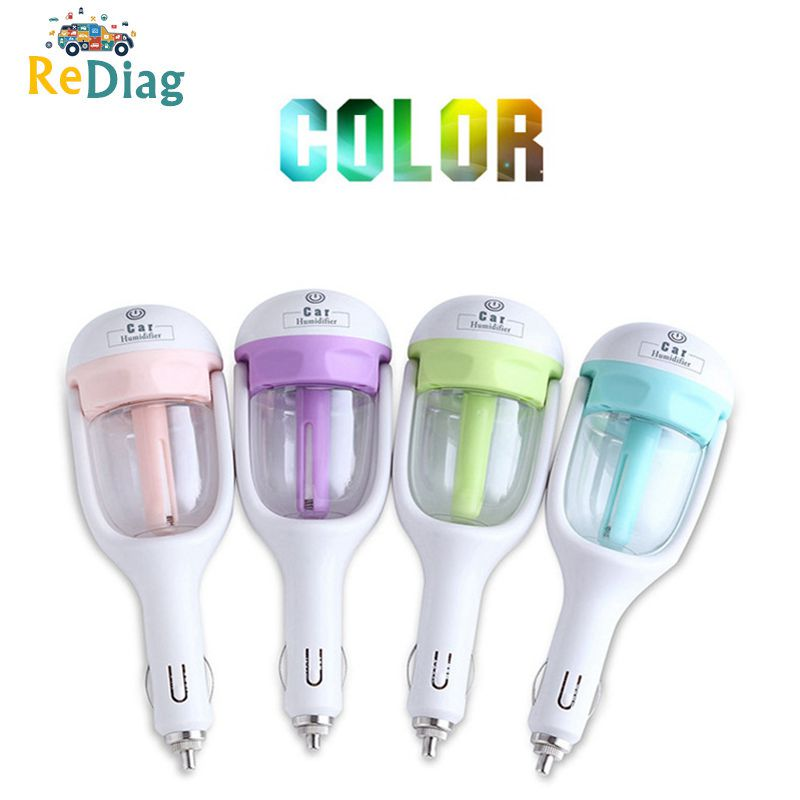 Good Quality Mini Portable Car Humidifier DC 12V Air Purifier Auto Mist Maker Aroma Sprayer Fogger Steam Essential Oil Diffuser