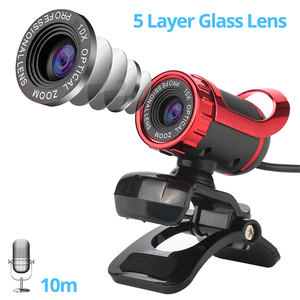 Веб-камера HD 360 градусов 2 мегапикселя, веб-камера, USB мини-камера с зажимом для микрофона, для ноутбука, настольного компьютера, аксессуары