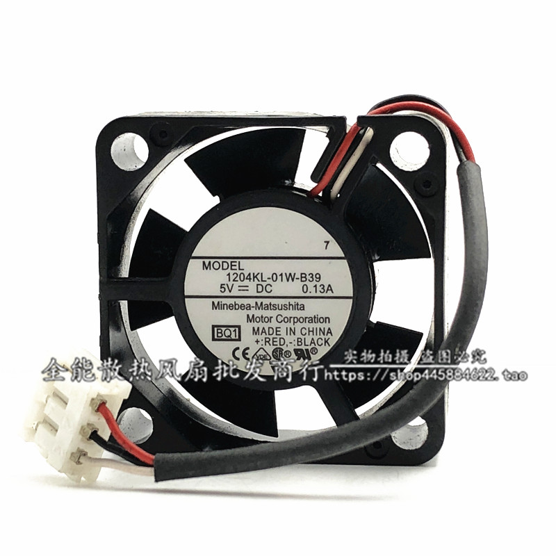 Original For NMB 3010 <font><b>30mm</b></font> 3cm 1204KL-01W-B39 DC <font><b>5V</b></font> 0.13A 3Wire HDD <font><b>Cooling</b></font> <font><b>Fan</b></font> image