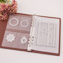 Cutting Dies Storage Book Stencil Template Holder Synthetic Leather Seal Transparent Stamps DIY Scrapbooking Collections Case study seal cutting seal chinese stone engraving skill book