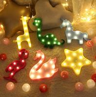 Led Night Light 3 AAA Battery Children Led Lamps Home Living Room Decoration