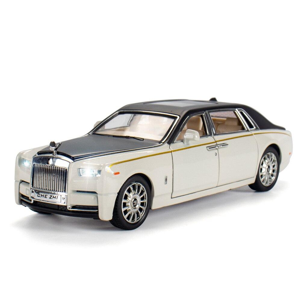 1:24 carro de brinquedo rolls-royce phantom metal carro de brinquedo liga carro simulação diecasts veículos modelo de carro brinquedos para crianças presente ct0040