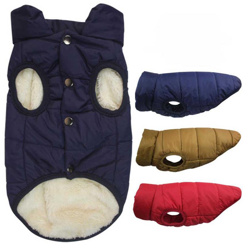 Köpek giysileri kış sıcak giyim evcil köpek su geçirmez ceket ceket kalın pamuk ceket büyük köpek büyük köpek yelek