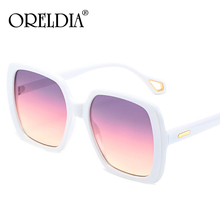 Vintage Ovesized Square Sunglasses Women Shades Luxury Brand Gradient Pink Purple Sun Glasses For Men Black Dames Gafas UV400