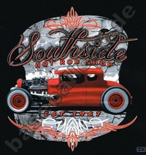 T-Shirt HOT ROD V8 VINTAGE BIKER CUSTOM PIN UP RETRO OLDSCHOOL SKULL BONES 503(China)
