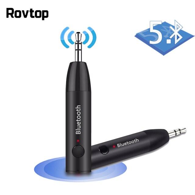 3.5MM Jack odbiornik Bluetooth bezprzewodowy Adapter Aux Bluetooth 5.0 zestaw głośnomówiący Stereo odbiornik muzyki Audio do samochodu zestaw słuchawkowy z głośnikiem