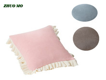 ZHUO MO 2pcs 45*45cm Lace Sleeping Bed Pillowcase for home Pink 3 colors Release Pillow cover Throw pillow Living Room