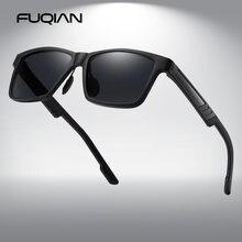 Мужские квадратные солнцезащитные очки fuqian классические винтажные