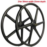 29er carbon 3k 6 spokes wheels mountain bike six spoke wheelset 27.5 inch MTB bicycle parts 26er for sale 650B cycling component