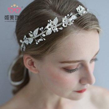 D2313 npason 2020 bridal jewelry DIY hair band 2019 new European and American Wedding Pearl headwear wholesale