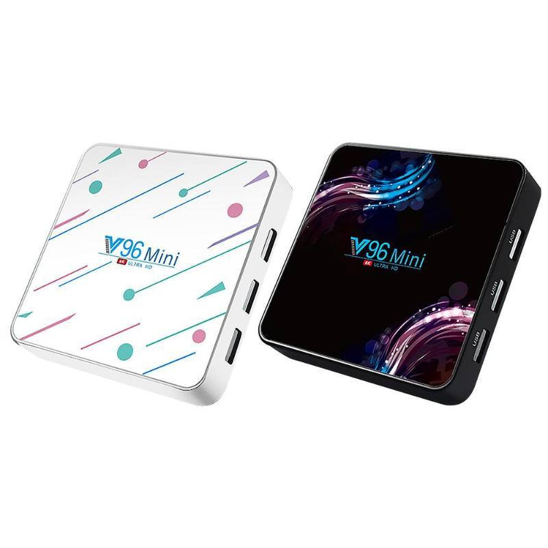 Nouveau Portable V96 Android 9.0 décodeur intelligent 4G + 32G WiFi BT4.2 6K TV Box lecteur multimédia haute définition livraison directe sans entrave