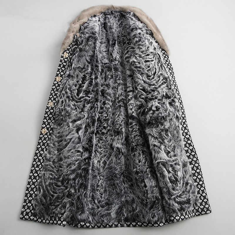 Ayunsy casaco de inverno feminino com gola pele de cordeiro, jaqueta tipo cordeiro, roupa feminina, quente, de 2020 lã jaqueta my