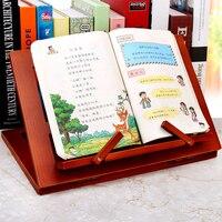Tablet Lesen Halterung Student Tisch Einstellbare Winkel Buch Ständer Holz Faltbare