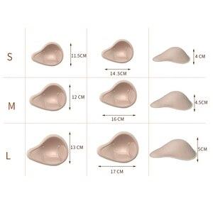 Image 5 - 1 paire, sangles réalistes en éponge, formes de seins, rehausseur de seins, Inserts de rembourrage 2XL pour maillots de bain et crossdressing D40