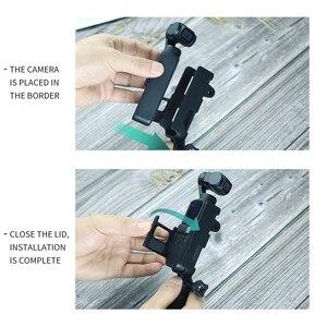 Image 4 - Soporte de montaje con tornillo 1/4 para DJI Osmo Pocket interfaz de cámara y soporte de Cámara de Acción para trípode Selfie Stick bicicleta