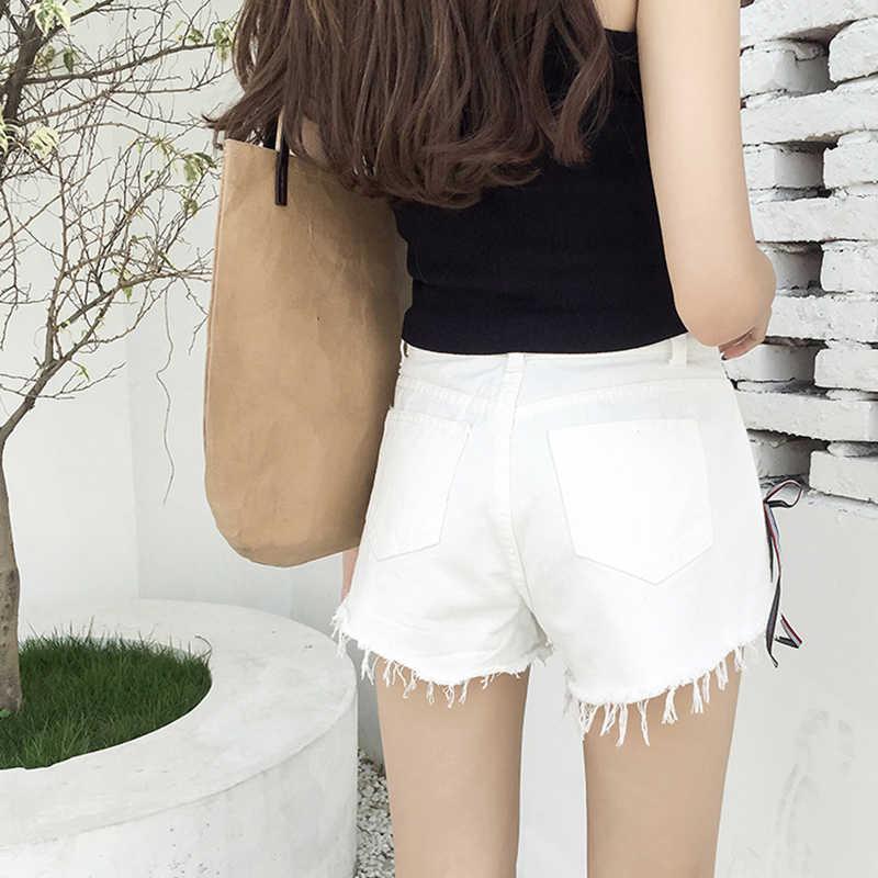 Acima do cordão de laço lados cor sólida curto criss cruz bandagem shorts femininos 2020 verão cintura alta algodão feminino shorts s