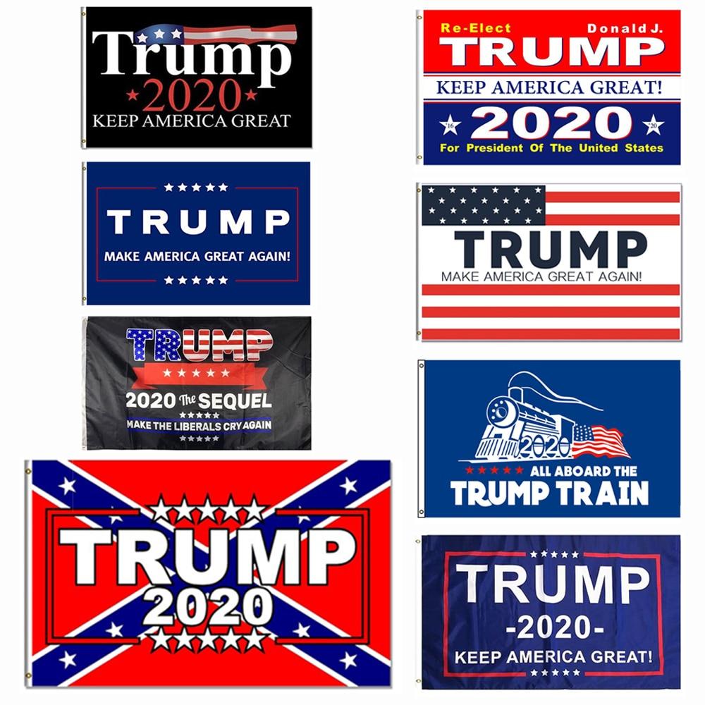 Флаг Трампа 2020, 3x5 футов, 150x90 см, 100D, баннер из полиэстера, надпись «сохранить Америку», отлично подходит для президента США