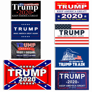 Trump 2020 Flag 3x5FT 150x90cm 100D Polyester Banner Keep America Great for President USA