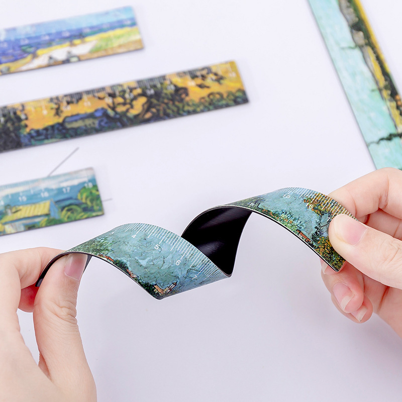 1 Pcs/lot Magnetic Soft Rulers Kawaii Small Fresh Painting Drawing Template Lace Sewing Ruler Stationery Office School