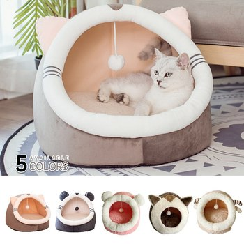Warm Comfortable Pet Bed Dog Cat Bed House Winter Sleeping Bag Portable Indoor Nested Closed Foldable image