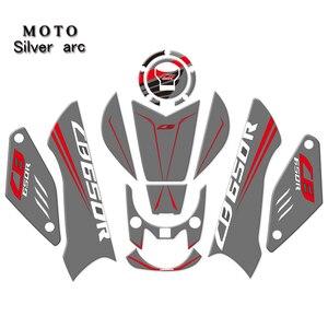 3D наклейка для мотоцикла с карбоновой печатью, защитная накладка на бак Cas для HONDA CB650R CB 650R 2019, печать + клей для изготовления