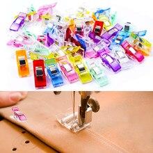 50Pcs colorati per cucire Pinze Multicolor Patchwork Cucito Accessorio Strumento di Trapunta Quilting Pinze di Plastica Clip di Artigianato FAI DA TE
