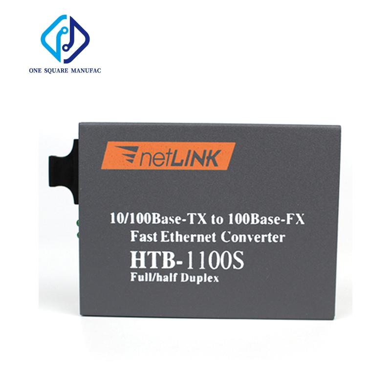 netLINK HTB-1100S A/B Optical Media Converter 25KM SC Port RJ45 Adaptive 10/100Mbps Single-Mode Fiber WDM