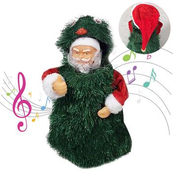 Boże narodzenie santa Claus muzyczne zabawka na boże narodzenie tańcząca śpiewająca boże narodzenie drzewo lalki dekoracji domu dla dzieci Kid prezent świąteczny #30 tanie i dobre opinie AUKUK Z tworzywa sztucznego Zasilanie bateryjne Brzmiące Interaktywne Santa Claus Musical Dancing Singing Christmas Tree Doll